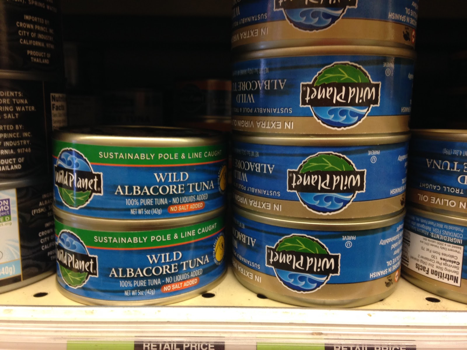 Natural Sea Tuna Brand Whole Foods