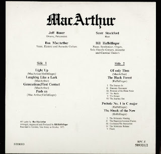 Resultado de imagen de jeff bauer ben macArthur band 1973