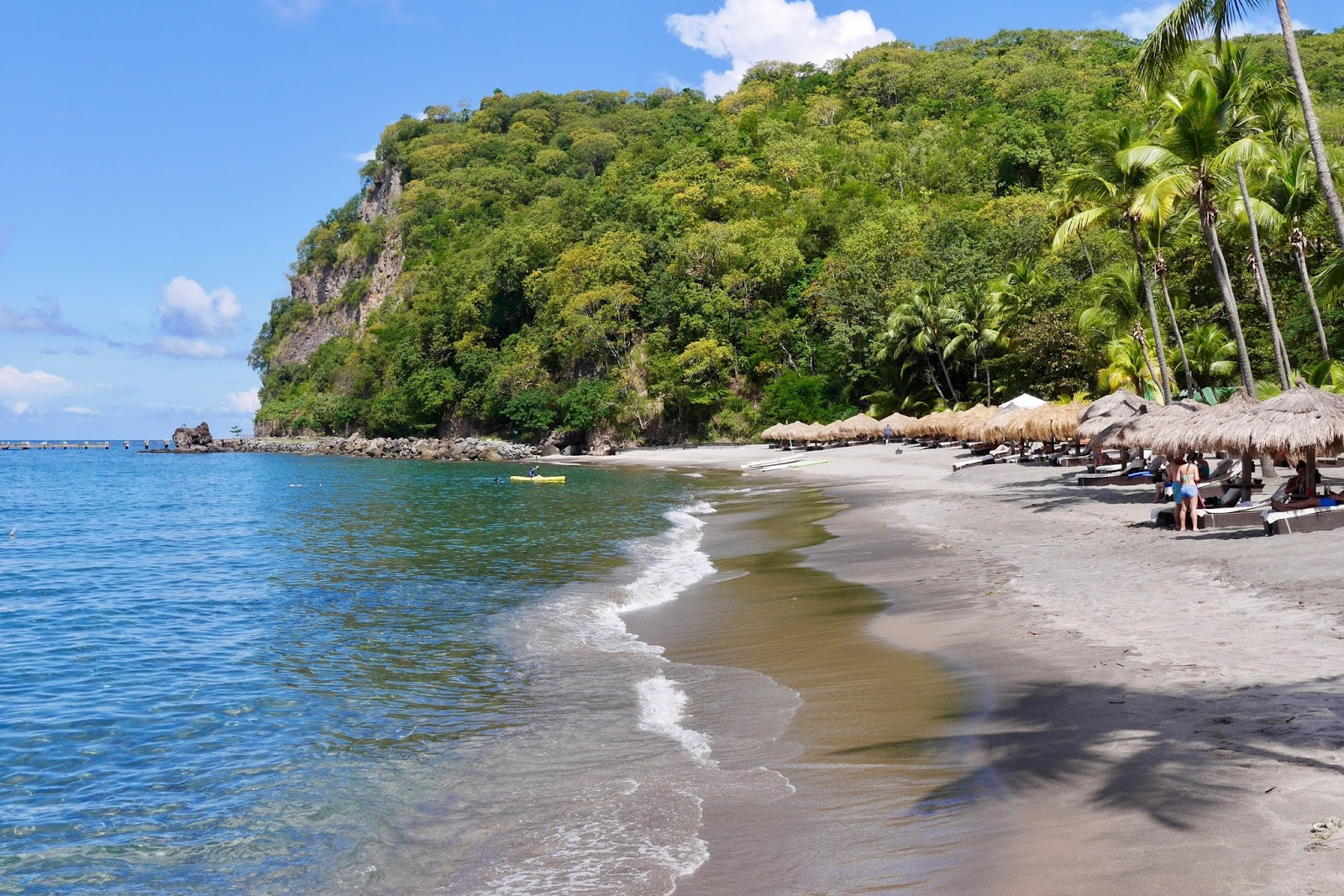 Anse Chastanet beach, Soufrière, St Lucia by www.CalMcTravels.com