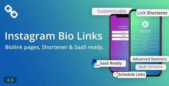 BioLinks v4.3.1 - Instagram Bio Links & URL Shortener ( SaaS ) Download