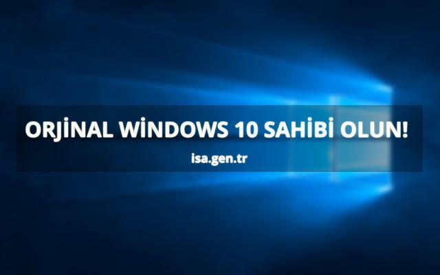 windows 10'u orjinal ve full yapmak