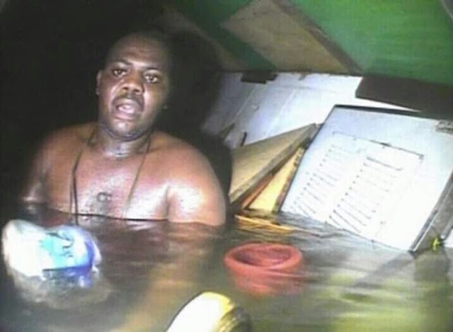 el nigeriano Harrison Okene pasó 60 horas bajo el agua