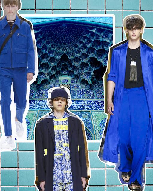 blue clothes for men spring summer