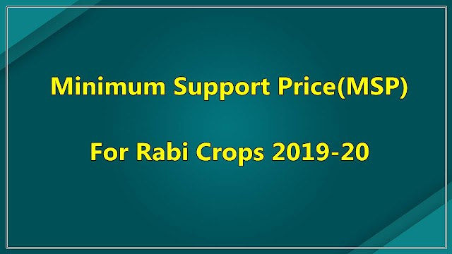 MSP For Rabi Crops 2019-20 Hiked