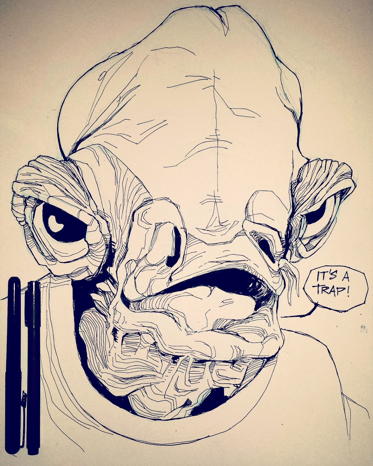 Admiral Ackbar it's a trap Star Wars illustration
