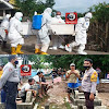 Personil Polsek Marbo Kawal Prosesi Pemakaman Warga Desa Banggae,  Jenazah Covid-19