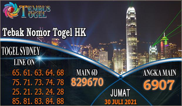 Tebak Nomor Togel HK, Jumat 30 Juli 2021