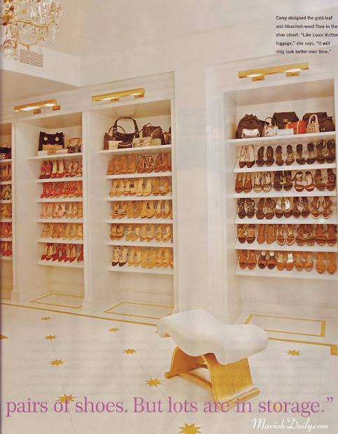 Cabina Armadio Mariah Carey.Celebrity Sneaker Closets Year Of Clean Water