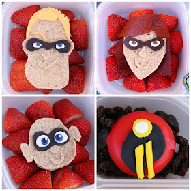 How to make Disney Pixar Incredibles 2 fun lunches for your kids!