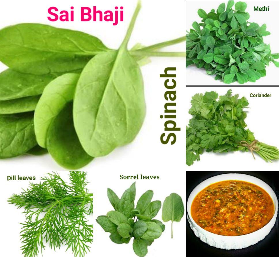 Veg Indian Good Food Recipes  : Sai Bhaji - Palak Chana Dal