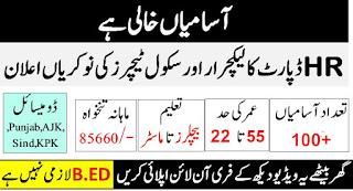 HR 1384 Latest Teachers Jobs 2019 www.hr1384.com.pk Apply Online Lecture Jobs - 100+ Seats