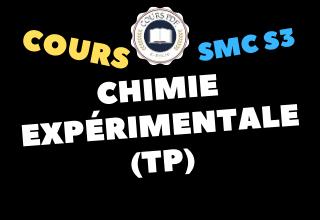 Chimie expérimentale SMC S3 - cours / td & exercices / examens / résumés [PDF]