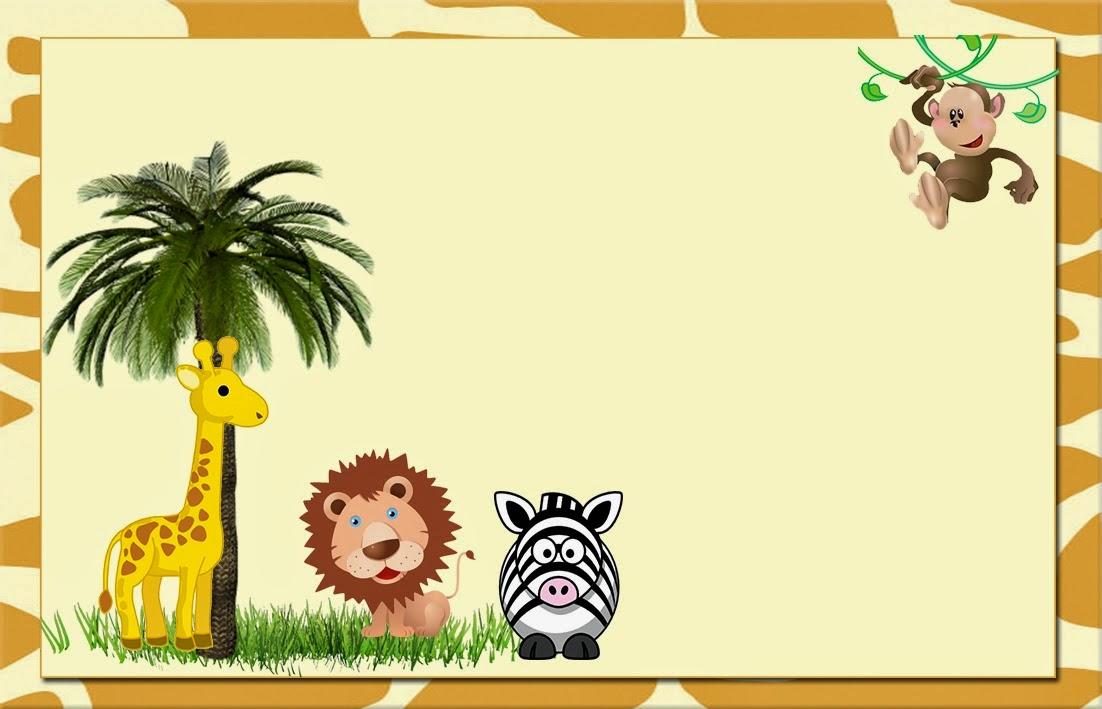 La selva invitaciones o tarjetas para imprimir gratis ideas y material gratis para fiestas y - Adornos para fotos gratis ...