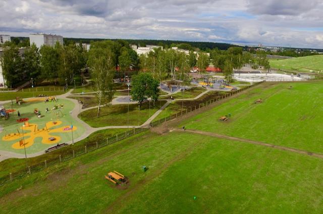 84 средняя школа в Риге Плявниеки спортивный парк