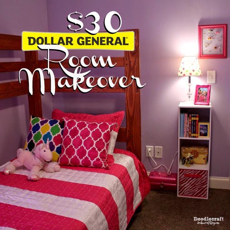 Doodlecraft 30 Dollar General Tween Room Makeover