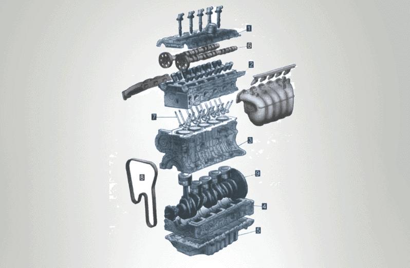 Eléments constitutifs d'un moteur diesel
