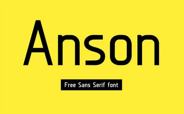 Download Gratis Sans Serif Komersial Font - Anson Free Font