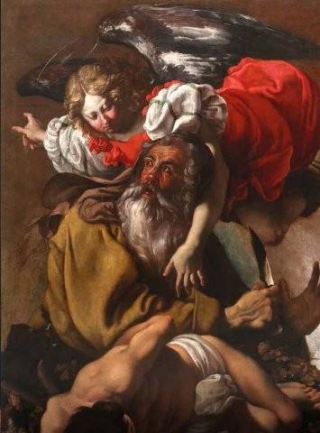dipinto di luigi miradori detto il genovesino, sacrificio di isacco