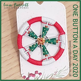 Day 358 : Christmas Star - One Button a Day 2020 by Gina Barrett