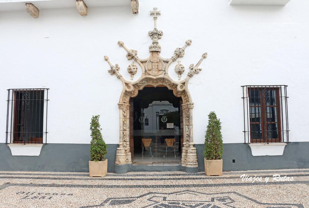 Portada del Ayuntamiento de Olivenza