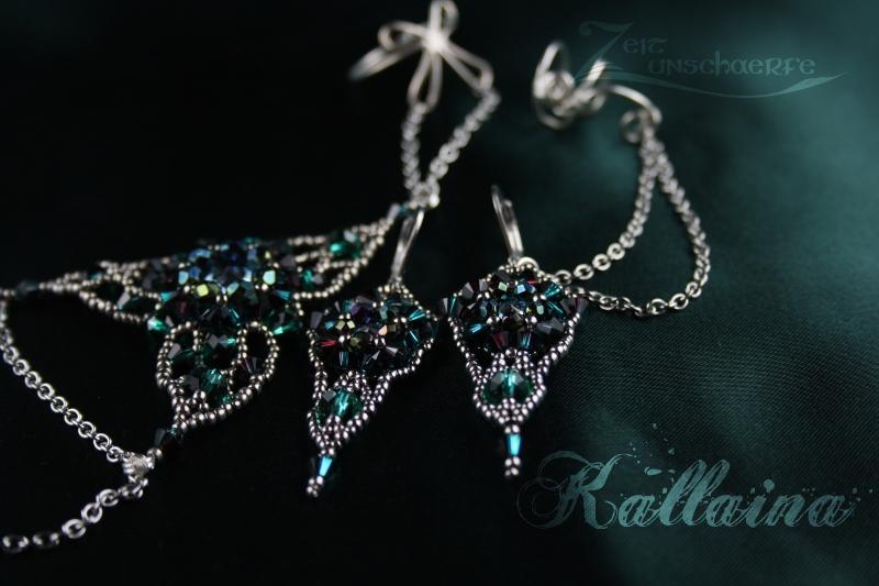 Kallaina Armband und Ohrringe by Zeitunschaerfe