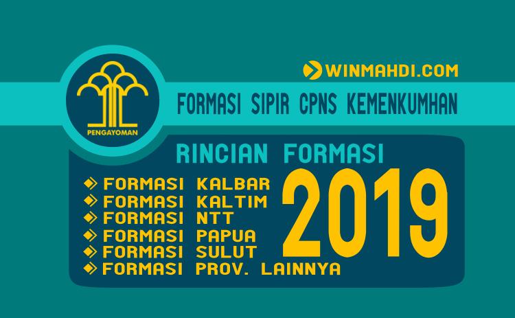 Rincian Formasi Sipir CPNS Kemenkumham 2019