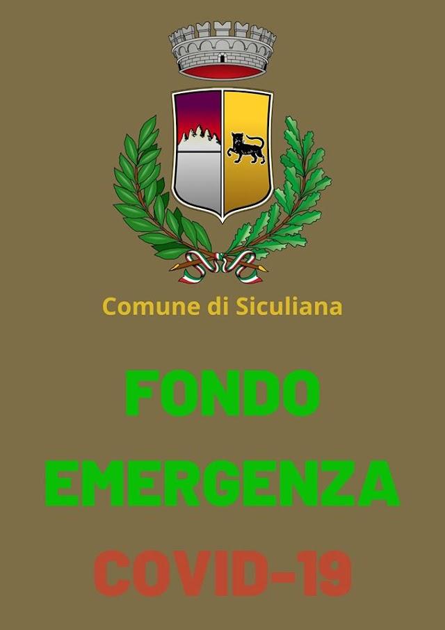 """Siculiana, istituito """"Fondo di Emergenza Covid-19"""" per sostenere le fasce più deboli della comunità"""