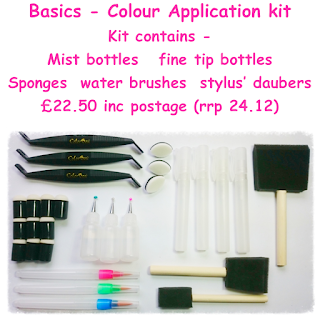 colour application tool kit, great for crafting beginners