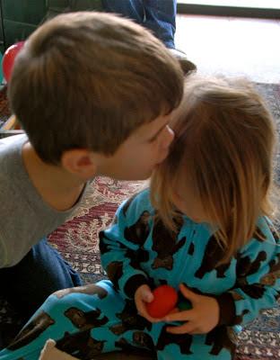 grandson kiss