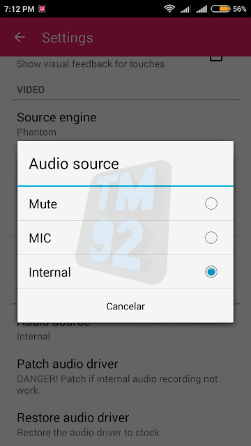 Airshou Screen Recorder Android audio