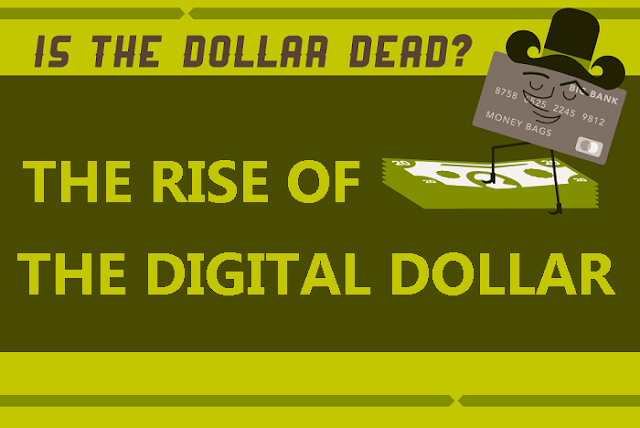The Rise Of The Digital Dollar #infographic
