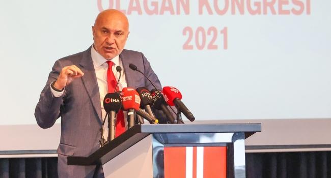 Başkanlık seçiminde Yeniden Samsunspor Klüp başkanı seçildi.