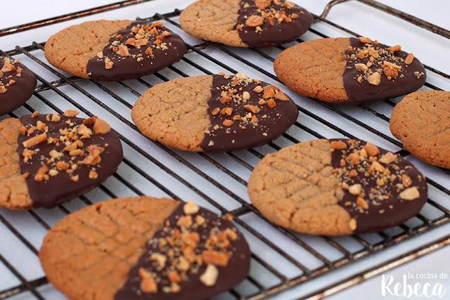 Galletas de chocolate y cacahuete