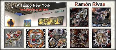 Obras de Ramón Rivas, que estarán en el ArtExpo de Nueva York