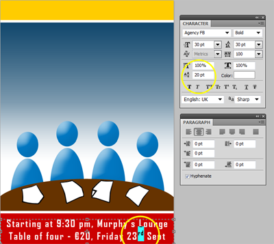 Create a table quiz poster in photoshop onlinedesignteacher for Online window design tool