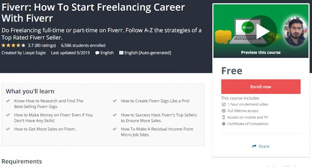 [100% Free] Fiverr: How To Start Freelancing Career With Fiverr