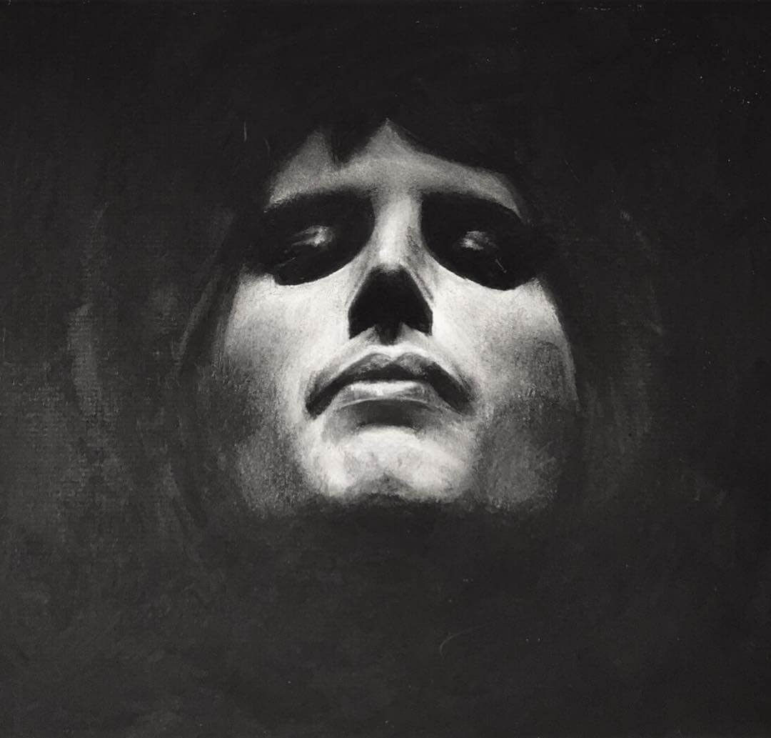 01-Freddie-Mercury-Queen-Rick-Young-Celebrity-and-More-Charcoal-Portraits-www-designstack-co