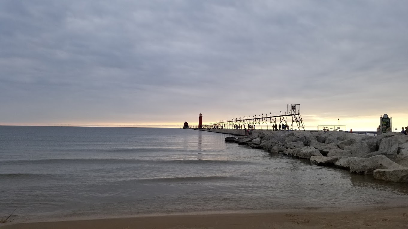 Grand Haven, MI lighthouse + pier