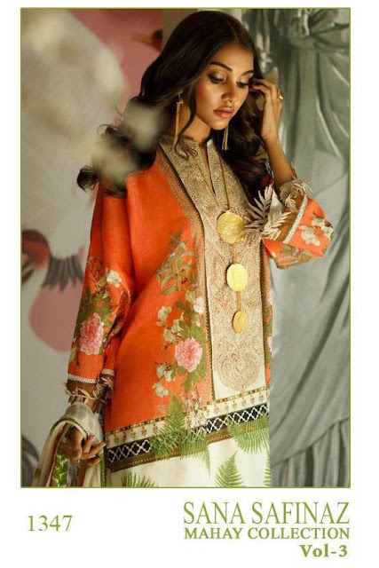Shree Fab Sana Safinaz Mahay Collection 3 pakistani Suits