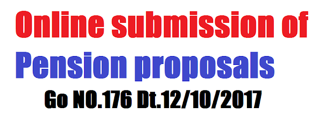 Online submission of Pension proposals Go NO.176 Dt.12/10/2017