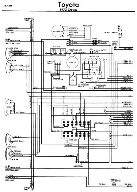 repair-manuals: Toyota Crown 1972 Wiring Diagrams