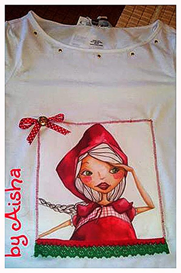 camiseta personalizada caperucita