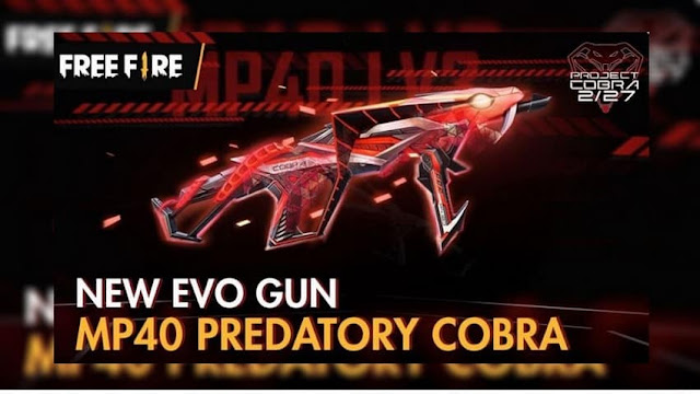 Cara Mendapatkan Senjata New MP40 Predatory Cobra Evo Gun Free Fire
