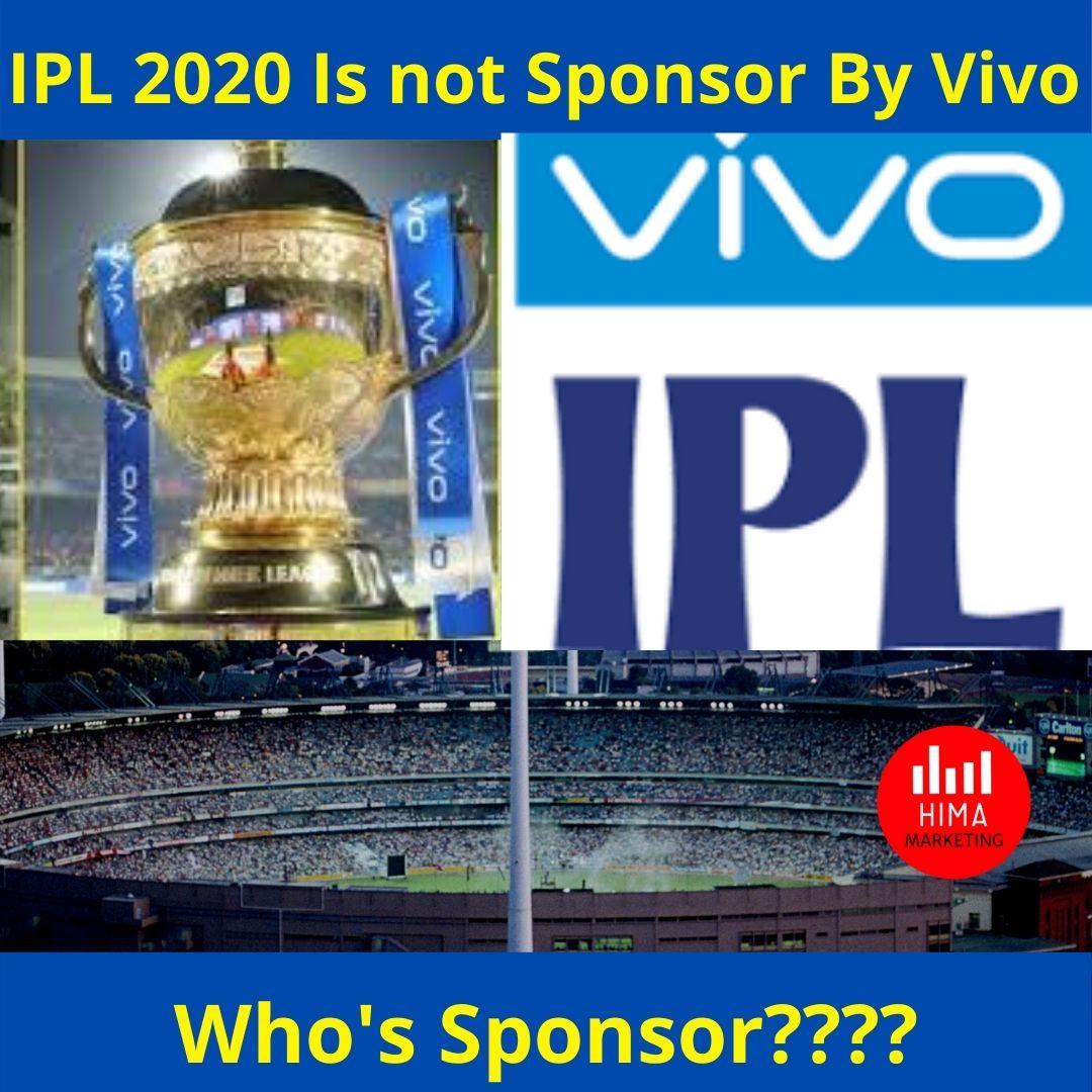 IPL 2020 Is not Sponsor By Vivo