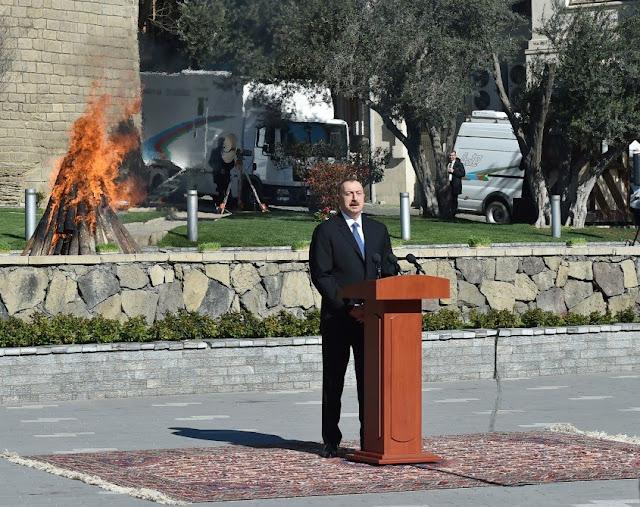 Aliyev reiteró que la mayoría de Armenia es de Azerbaiyán