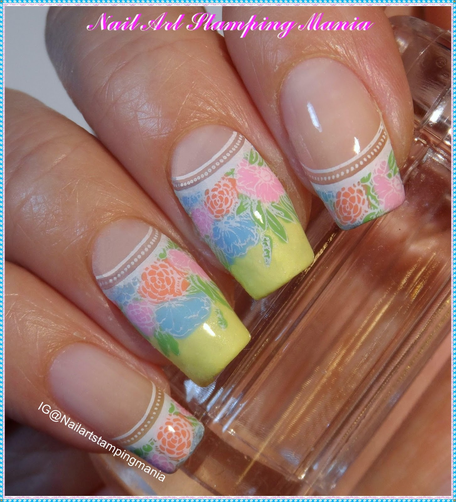 Nail Art Stamping Mania: French Manicure with UberChic Beauty Paris ...