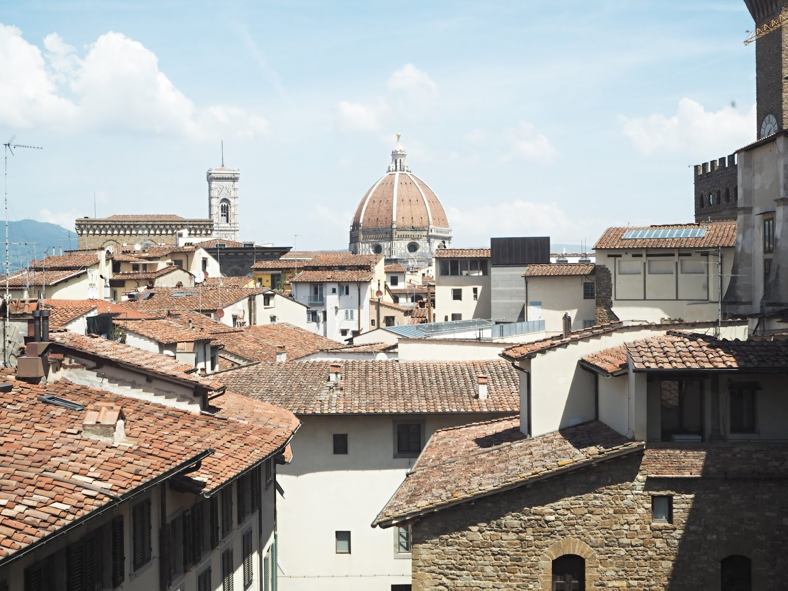 Florence skyline shot from uffizi gallery