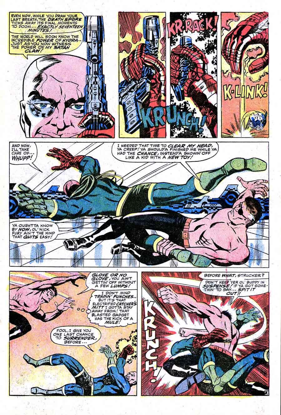 Strange Tales v1 #158 nick fury shield comic book page art by Jim Steranko