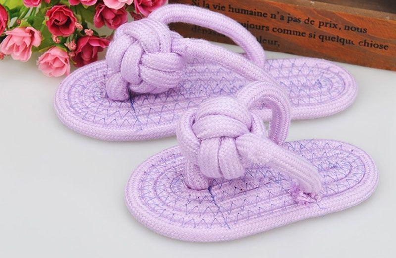 Dog Toy Flip Flop Shaped Purple Color
