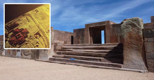 Resultado de imagen de ciudad subterránea preincaica en el centro ceremonial de Tiwanaku